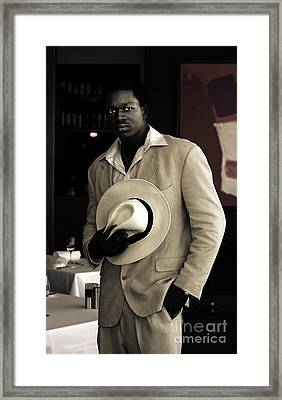 Handsome African On Evening Date Framed Print by Jorgo Photography - Wall Art Gallery