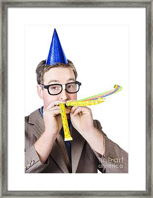 Handsome Business Man. Party For Many Year Service Framed Print by Jorgo Photography - Wall Art Gallery