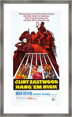 Hang Em High, Clint Eastwood, 1968 Framed Print