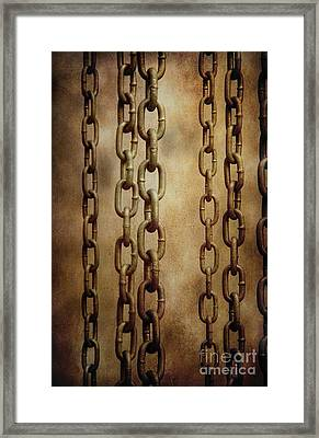 Hanged Chains Framed Print by Carlos Caetano