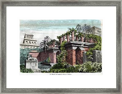Hanging Gardens Of Babylon Framed Print by Cci Archives