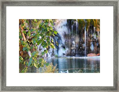 Hanging Lake Framed Print