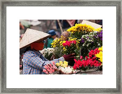 Hanoi Flowers 03 Framed Print by Rick Piper Photography