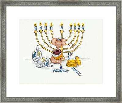 Hanukkah Mouse Framed Print
