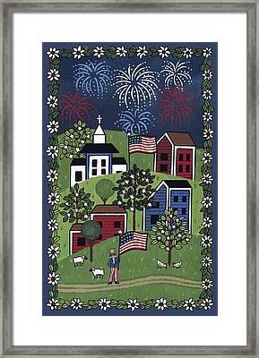 Happy 4th Of July Framed Print by Medana Gabbard