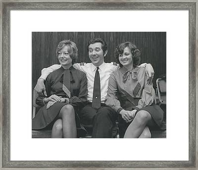 Happy After Skyjack Attempt Framed Print by Retro Images Archive
