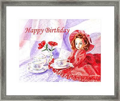 Happy Birthday Framed Print by Irina Sztukowski