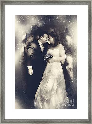 Happy Bride And Groom In A Wedding Romance Framed Print by Jorgo Photography - Wall Art Gallery