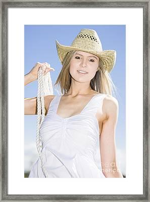 Happy Farm Woman Framed Print by Jorgo Photography - Wall Art Gallery