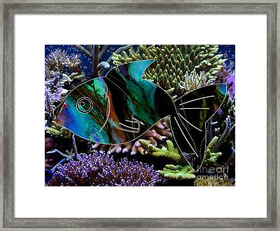 Happy Fish Framed Print by Marvin Blaine