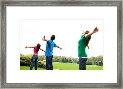 Happy Friends Framed Print by Michal Bednarek