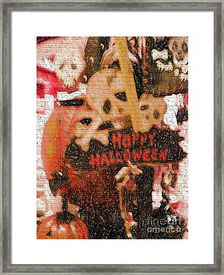 Happy Halloween Framed Print by Gillian Singleton