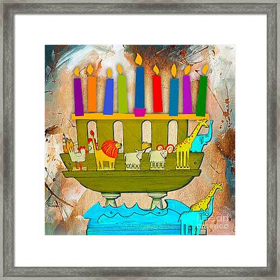 Happy Hanukkah Framed Print by Marvin Blaine
