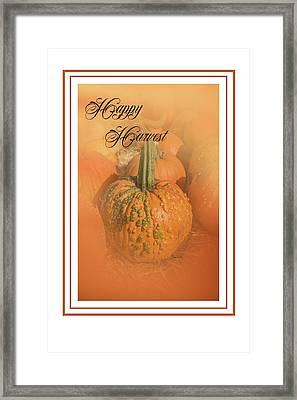Happy Harvest Framed Print
