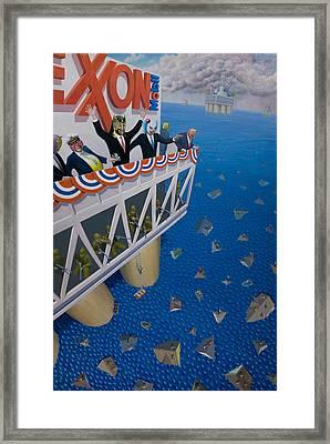 Happy Motoring Framed Print by Johnny Everyman