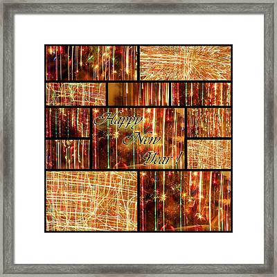 Happy New Year Collage  Framed Print by Julia Fine Art And Photography