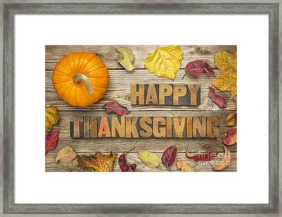 Happy Thanksgiving Framed Print by Marek Uliasz