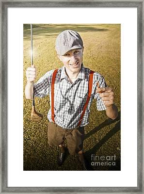 Happy The Golf Man Framed Print