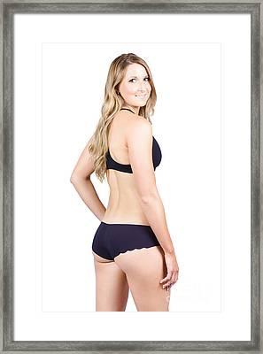 Happy Woman In Swimwear Framed Print by Jorgo Photography - Wall Art Gallery