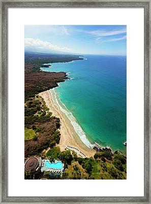 Hapuna Beach Prince Hotel, Mauna Kea Framed Print by Douglas Peebles