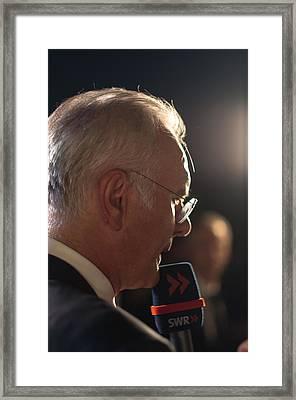 Harald Schmidt Interviews Framed Print