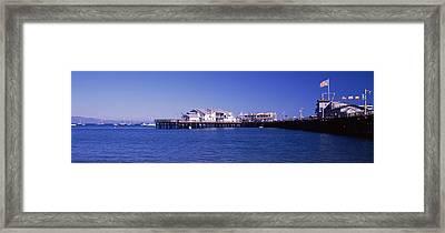 Harbor And Stearns Wharf, Santa Framed Print