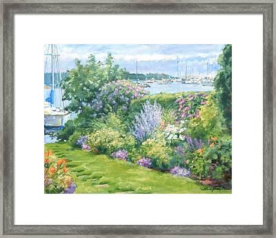Harbor Garden Framed Print by Sharon Jordan Bahosh