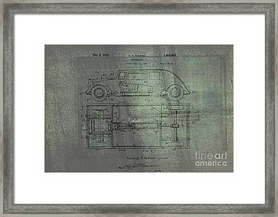Harleigh Holmes Automobile Patent From 1932 Framed Print by Doc Braham