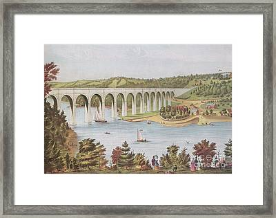 Harlem River, New York, 19th Century Framed Print by Photo Researchers
