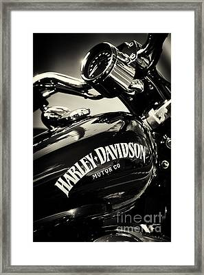 Harley D Sepia Framed Print by Tim Gainey