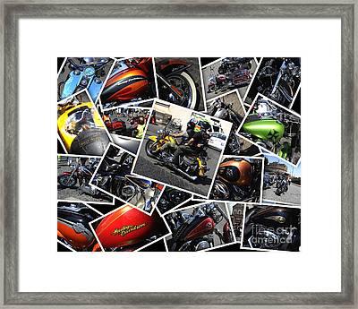 Harley Davidson Anniversary In Rome Framed Print by Stefano Senise