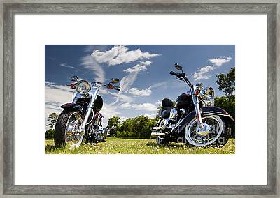 Harley Davidson Motorcycles Framed Print by Tim Gainey