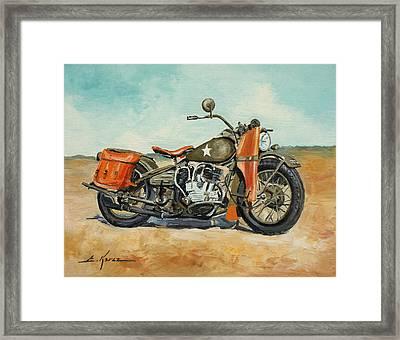 Harley Davidson Wla 1942 Framed Print