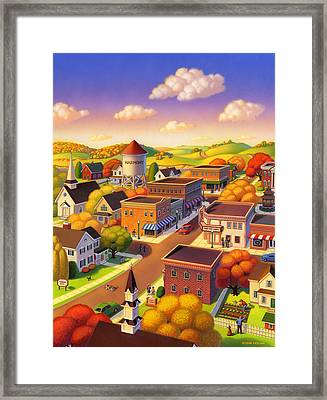 Harmony Town Framed Print by Robin Moline