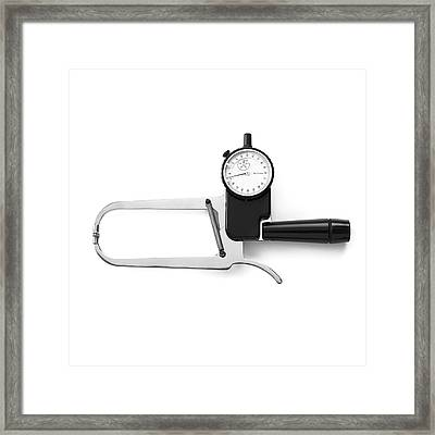 Harpenden Skinfold Calliper Framed Print by Science Photo Library