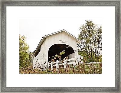 Harris Covered Bridge - Pov1 Framed Print