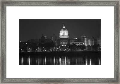 Harrisburg State Capital   # Framed Print