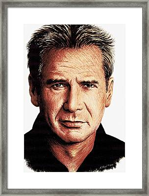 Harrison Ford Framed Print by Andrew Read