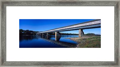 Hartland Bridge, Worlds Longest Covered Framed Print
