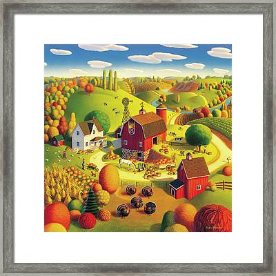 Harvest Bounty Framed Print by Robin Moline