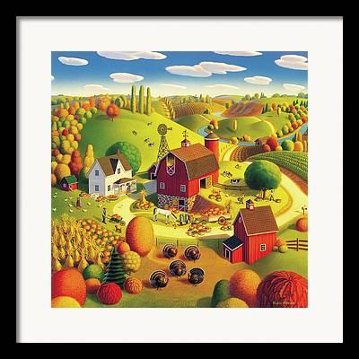 Harvest Bounty Framed Prints