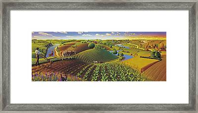 Harvest Panorama  Framed Print by Robin Moline
