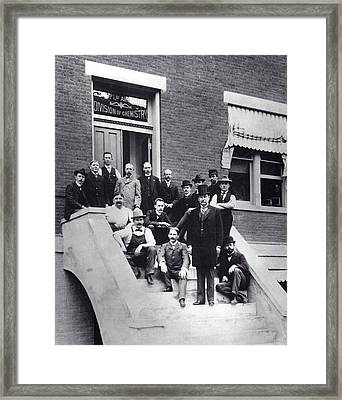 Harvey Wiley And Colleagues Framed Print by Food & Drug Administration