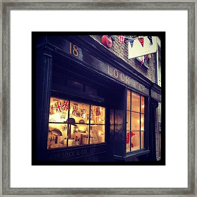 Hat Shop Jubilee Style Framed Print by Maeve O Connell