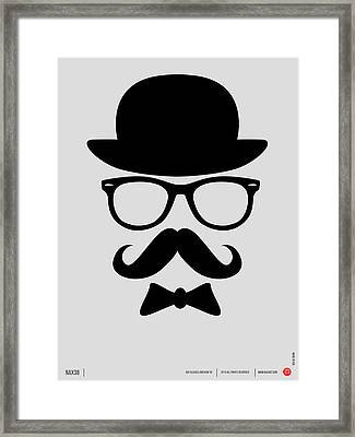 Hats Glasses And Mustache Poster 2 Framed Print by Naxart Studio