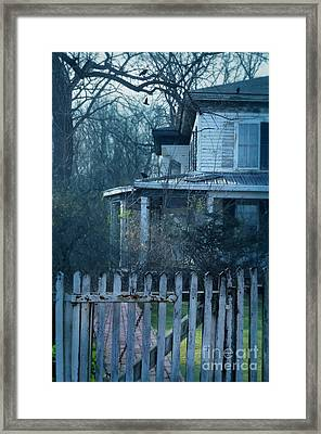 Haunted House Framed Print by Jill Battaglia