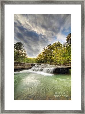 Haw Creek Falls Framed Print by Twenty Two North Photography