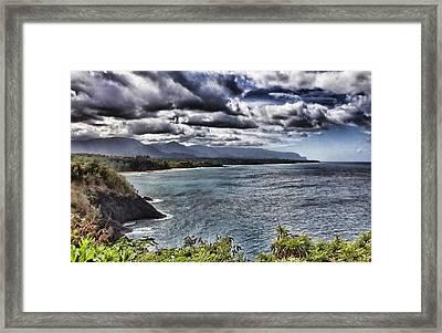 Hawaii Big Island Coastline V2 Framed Print by Douglas Barnard