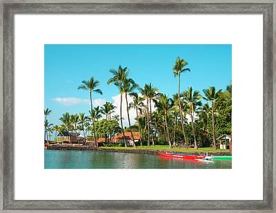 Hawaii, Big Island, Kona-kailua Framed Print by Inger Hogstrom