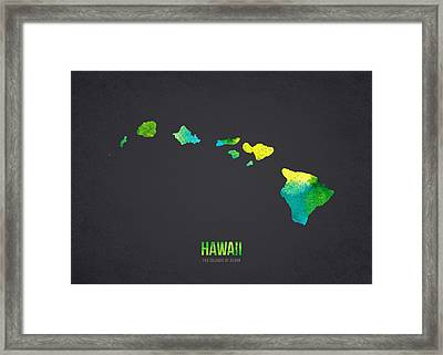 Hawaii The Islands Of Aloha Framed Print by Aged Pixel